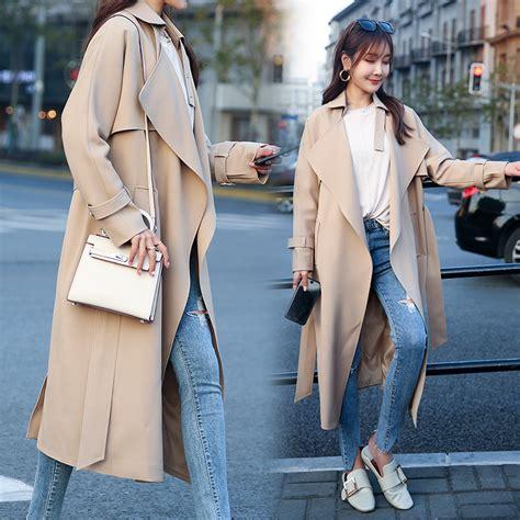 [USD 262.60] The spring 2018 new Khaki Fashion temperament windbreaker women in the South Korean ...