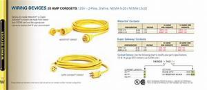 3pole  4wire Yellow Replacement Connector Nema L15