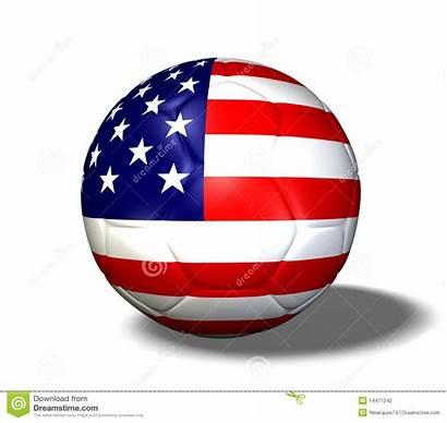 Soccer Usa Flag Ball America Soccerball United