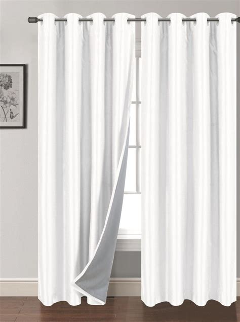 2pc panels window treatment curtain grommet blackout 63