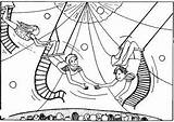 Circus Coloring Acrobat Circo Coloriages Printable Dibujos Cirque Coloriage Afro Monos Acrobatas Children Template Collected Various Enfants Loyal Monsieur sketch template