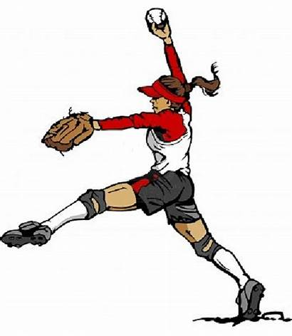 Softball Pitcher Pitch Clipart Fastpitch Vector Fast