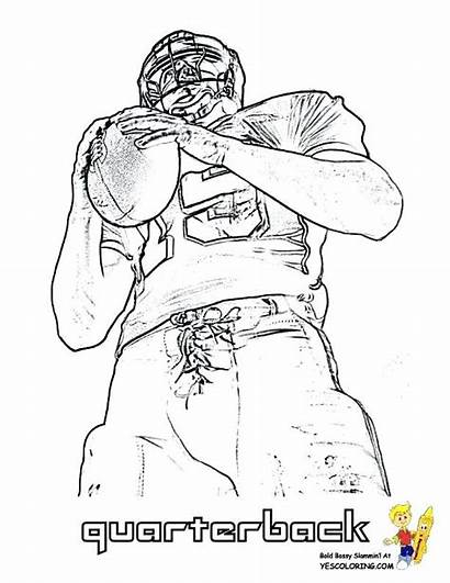 Coloring Pages Nfl Player Football Quarterback Printable