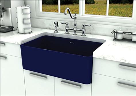 fireclay kitchen sink reviews whitehaus wh3018 sblu reversible fireclay sink review 7204