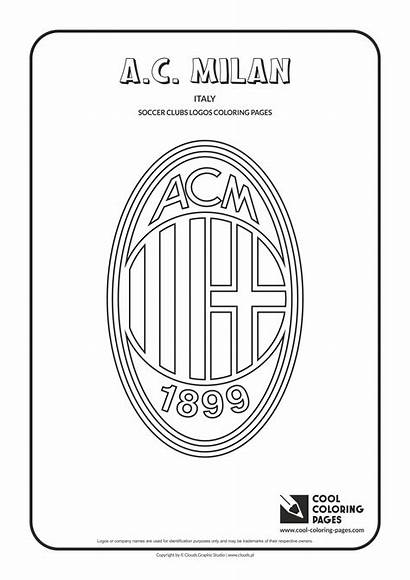 Coloring Soccer Pages Logos Milan Cool Clubs