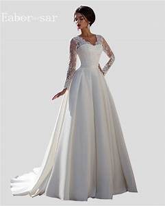 vintage lace long sleeve wedding dresses ball gowns stain With long sleeve vintage wedding dresses