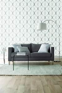 salon avec papier peint dootdadoocom idees de With tapis de sol avec canapé en toile