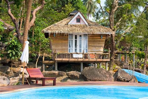beach bungalow thailand stock photo  olegdoroshenko