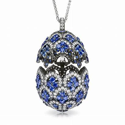 Faberge Eggs Egg Pendant Sapphire Locket Jewellery