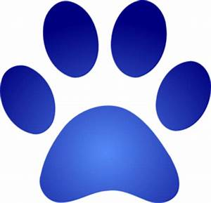 Blue Paw Print With Gradient Clip Art at Clker.com ...