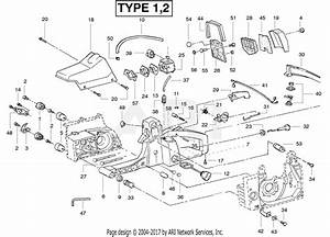 Poulan Pp330 Gas Saw Type 2  330 Gas Saw Type 2 Parts Diagram For Handle  U0026 Controls