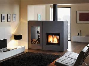 Double Sided Electric Fireplace Storage — Home Ideas