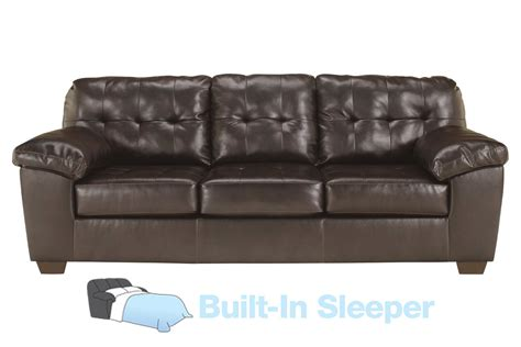 leather sectional sleeper sofa alliston bonded leather queen sleeper sofa at gardner white