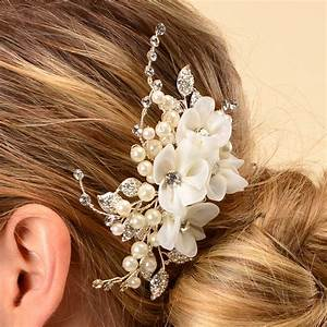 Side Bridal Comb Wedding Hairpiece With