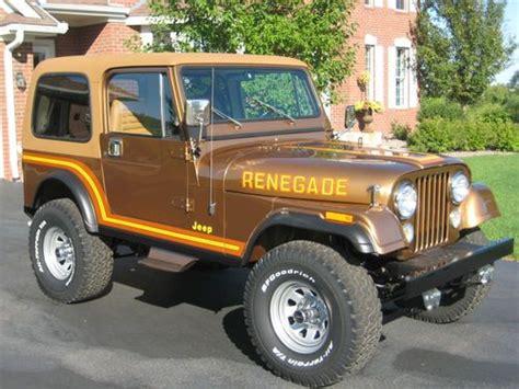 amc jeep cj7 purchase used 1985 jeep cj7 renegade nut and bolt