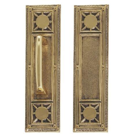 brass accents renaissance door push pull plate nantucket      lockandhingecom
