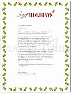 Best photos of family annual christmas letter examples for Christmas holiday letter