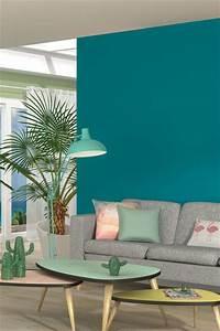 15 epingles salon bleu incontournables decor salon With beautiful photo peinture salon 2 couleurs 5 peinture murs de mon entree salon cuisine