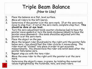 The Triple And Four Beam Balances Worksheet Answers - The ...