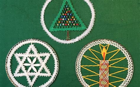 lace making  christmas tutor jean leaders festive