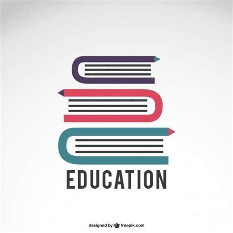 education logo mit buecher  der kostenlosen vektor