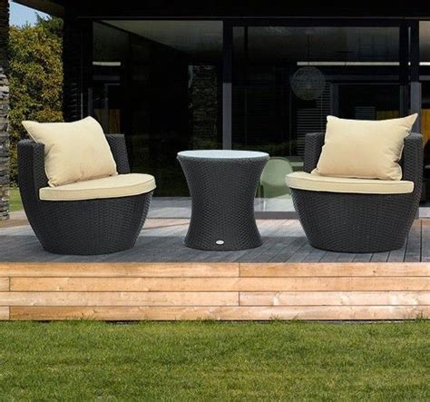 3pc rattan wicker sofa outdoor patio stackable furniture