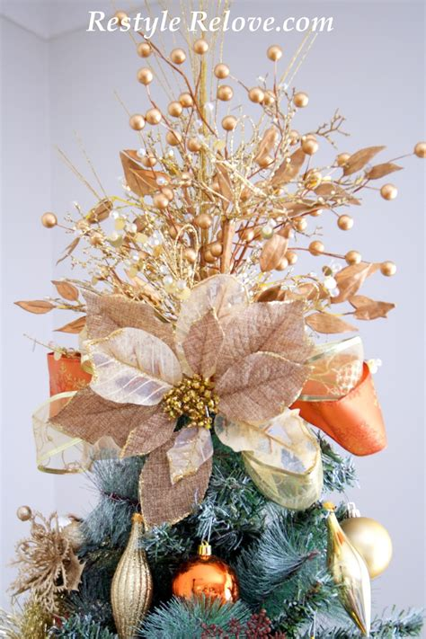 Pretty Tree Toppers by Gold Floral Tree Topper