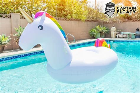 Captain Floaty Giant Unicorn Swimming Pool Float