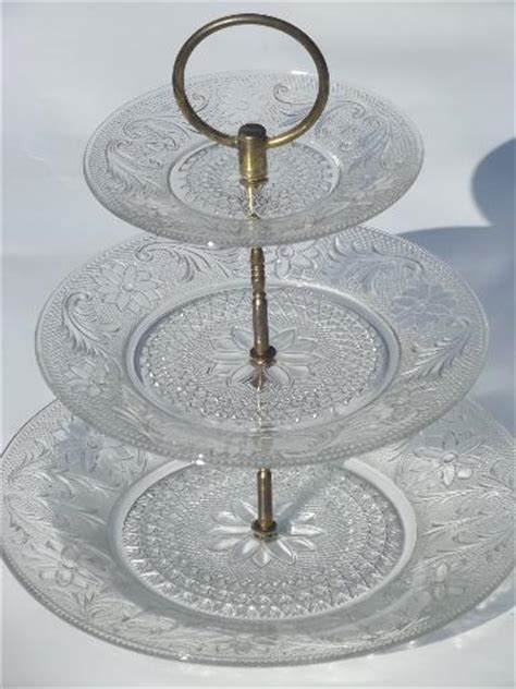 tiered plate server  tier rectangular serving platter  tiered cake tray stand food