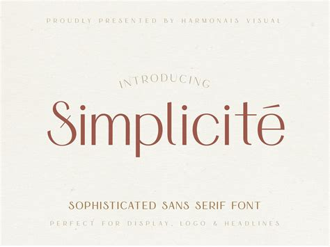 Simplicite' - Simple & Elegant Font by Fonts Collection on ...