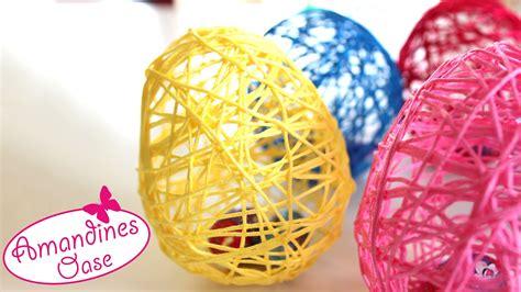 ostereier aus wolle ostereier aus wolle garn mit hilfe luftballons diy dekoration und geschenkidee