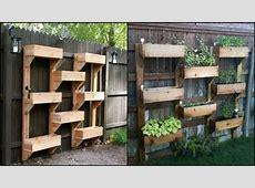 Vertical Wooden Box Planter via OwnerBuilder Network