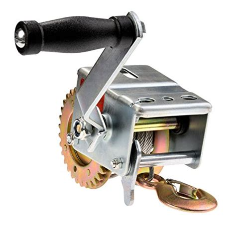 Boat Winch Gears by 600lbs Boat Trailer Winch Worm Gear Crank With Cable