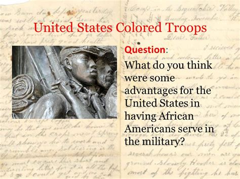 united states colored troops 1862 antietam and emancipation ppt