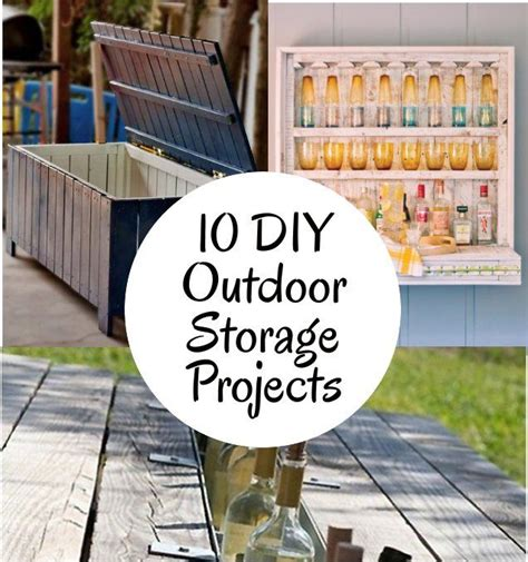 outdoor diy projects 10 diy outdoor storage projects