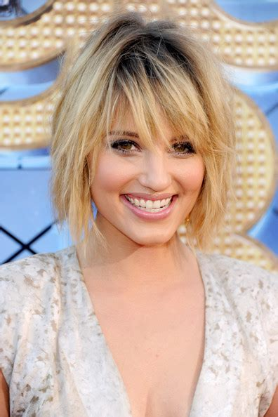 celebrity hairstyles carefree dianna agron short glee