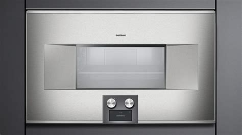 gaggenau  series  electric single steamconvection oven built  stainless steel bs