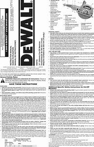 Dewalt D28755 Type 1 User Manual Saw Manuals And Guides