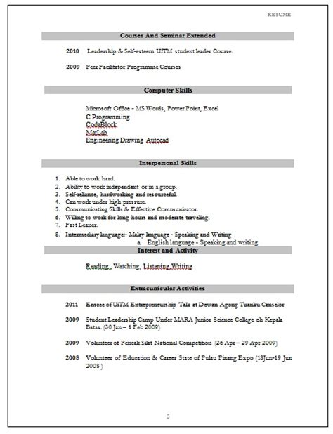 Contoh Format Resume Terkini 2017 by Format Surat Rasmi Terkini Contoh Surat Motorcycle