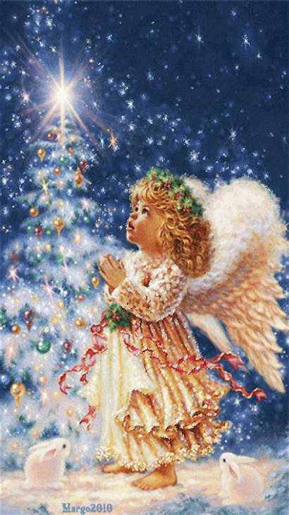 Angel Animated Christmas Gifs Angels Holidays Weeping