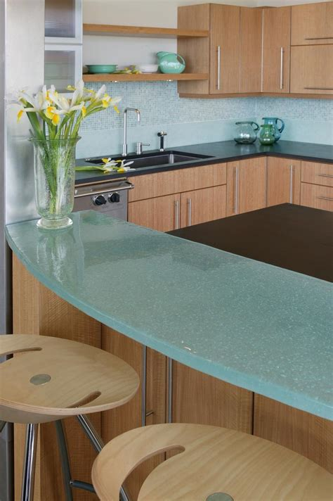 Examples Of Ecofriendly Glass Countertops Furniture