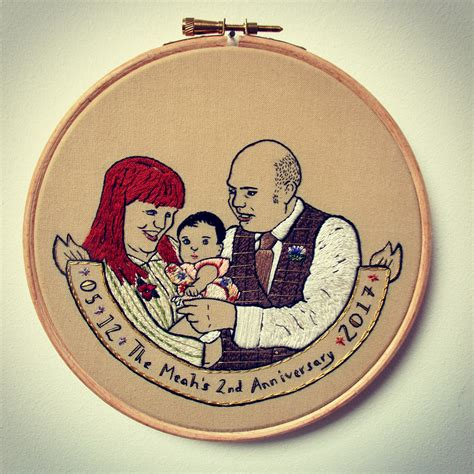family portrait embroidery   embroidery