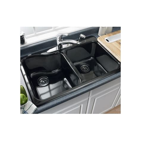 Americast Silhouette Kitchen Sink Accessories by Faucet 7145 001 345 In Bisque By American Standard