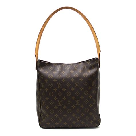 auth louis vuitton monogram looping gm shoulder bag