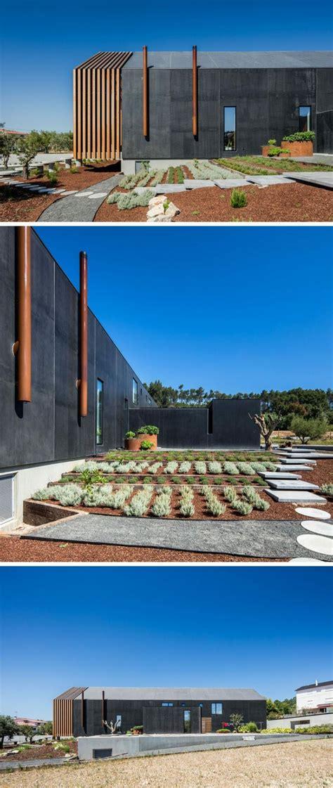 Moderne Häuser Portugal by Terassengarten Gartenpflanzen Gartenpfad Holzveranda