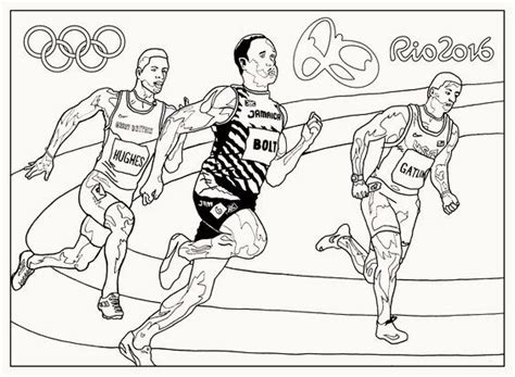 running olympic rio  coloring pages