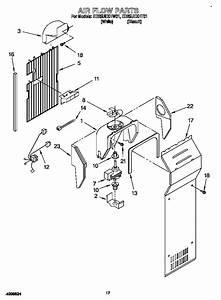 Air Flow Diagram  U0026 Parts List For Model Ed25uexht01 Whirlpool