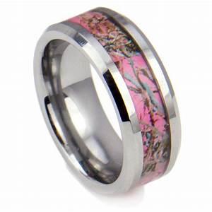 8mm tungsten carbide ring women39s camo hunting camouflage With womens camouflage wedding rings
