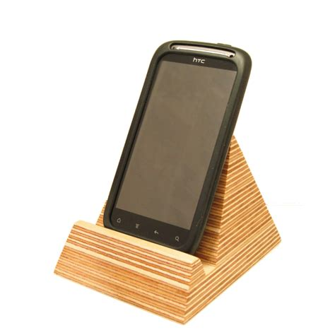cell phone holder for pyramid phone holder homeware furniture and gifts mocha