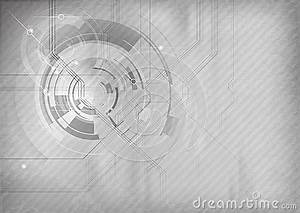 Grey Tech Background Stock Images - Image: 30341984